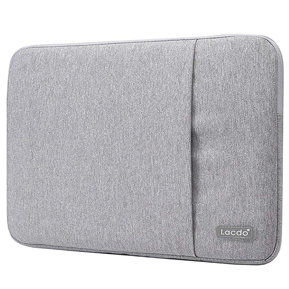 Lacdo 13 Inch Waterproof Fabric Laptop Sleeve Case Compatible Old MacBook Air 13'' / MacBook Pro 13.3-Inch Retina 2012-2015/12.9 ipad Pro, HP Asus Acer Chromebook Ultrabook Notebook Bag, Gray by Lacdo