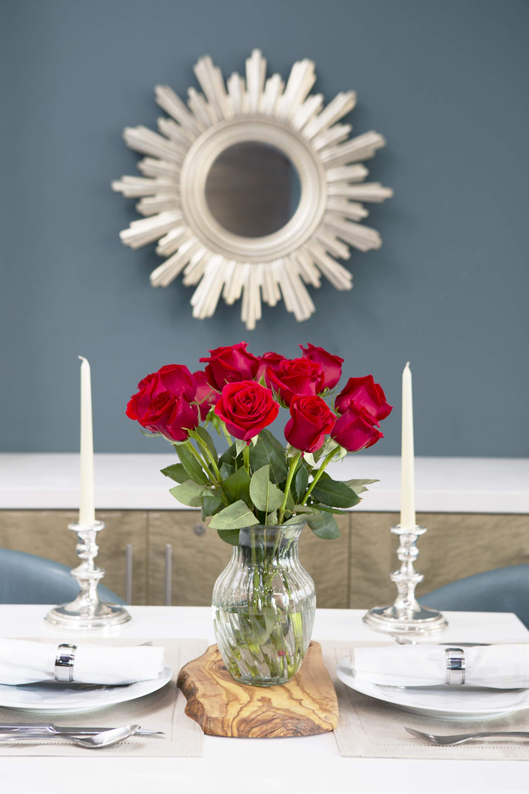 KaBloom The Romantic Classic Bouquet of 12 Fresh Red Roses (Farm-Fresh, Long-Stem) by KaBloom (Image #4)
