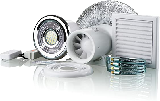 Blauberg UK Ducto - Kit de ventilador de ducha para baño (100 mm ...