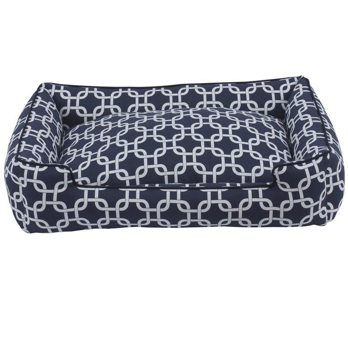Jax and Bones 32 x 27 x 10'' Standard Everyday Cotton Lounge Dog Bed, Medium, Marine