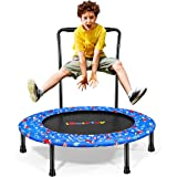 """iBaseToy Trampoline for Kids with Handle, 36"""" Mini Foldable Toddler Trampoline with Safety Cover, Upgraded Indoor…"""