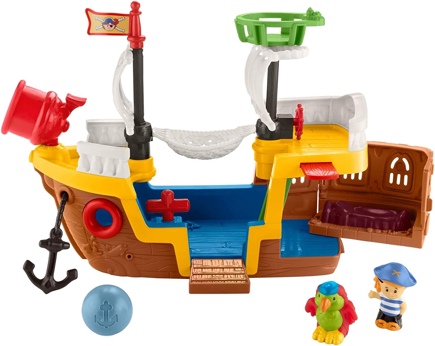 Fisher-Price Little People Pirate Ship playset with music, sounds and action for toddlers and preschool kids ages 1-5 years