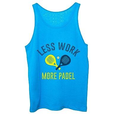 CUC Less Work More Padel Sport Tennis - Camiseta de Tirantes para ...