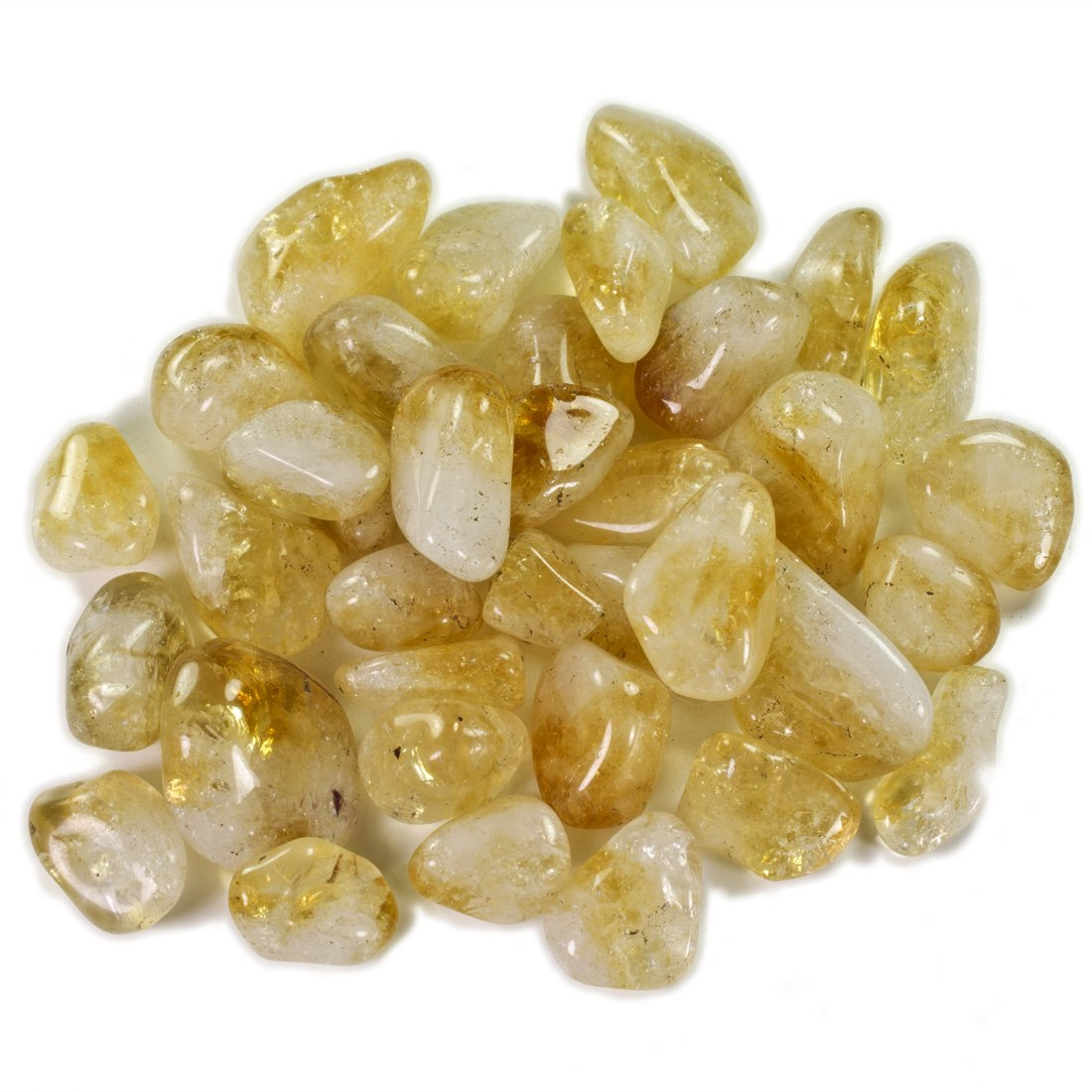 Hypnotic Superior Materials: 1lb Bulk Tumbled Citrine Stones from Brazil - Natural Polished Gemstone Supplies for Wicca, Reiki, and Energy Crystal Healing *Wholesale Lot*