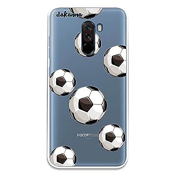 dakanna Funda para Xiaomi Pocophone F1 | Patrón Balón de Fútbol ...