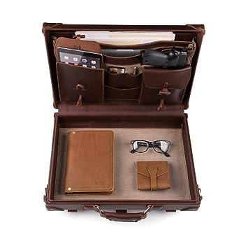 Saddleback Leather Hard Briefcase U2013 100% Full Grain Leather, Rugged, Slim,  Hard