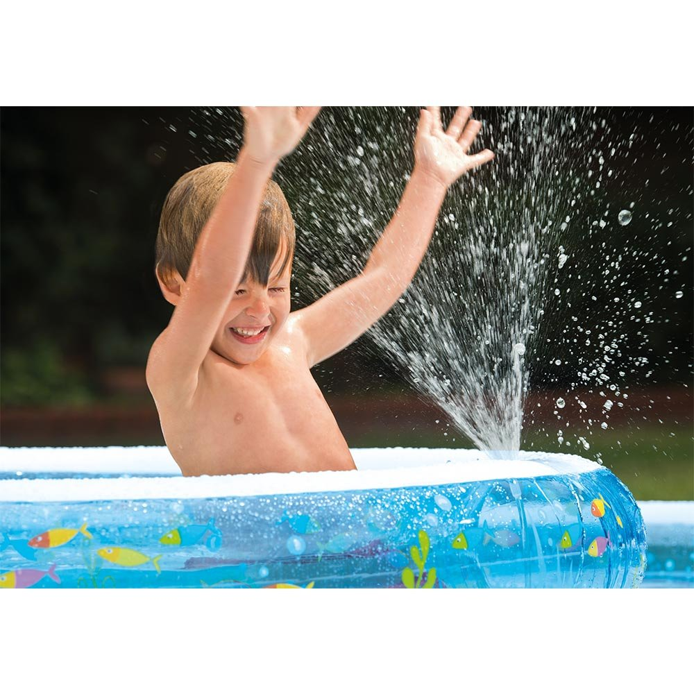 Kids-Inflatable-Pool Small Kiddie Blow Up Above Ground Swimming Pool Is Great For Kids & Children To Have Outdoor Water Fun W/Slide, Floats, Toys. This Wishing Well Swim Pool with Sprayer. by Kids-Inflatable-Pool (Image #3)