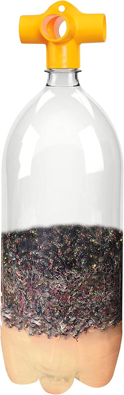 Flies Be Gone Monster Soda Bottle Fly Trap (6 Pack) Reusable, 100% Non-Toxic