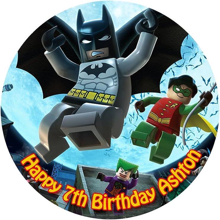 Super Batman Personalized Cake Topper Icing Sugar Paper 7 5 Image 3 Personalised Birthday Cards Vishlily Jamesorg