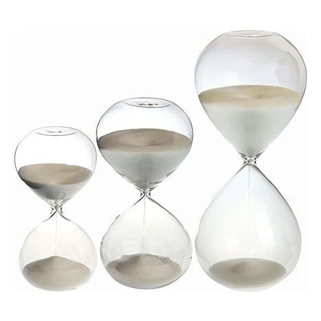15, 30, y 60 minutos Juego de 3 reloj de arena del reloj Duración