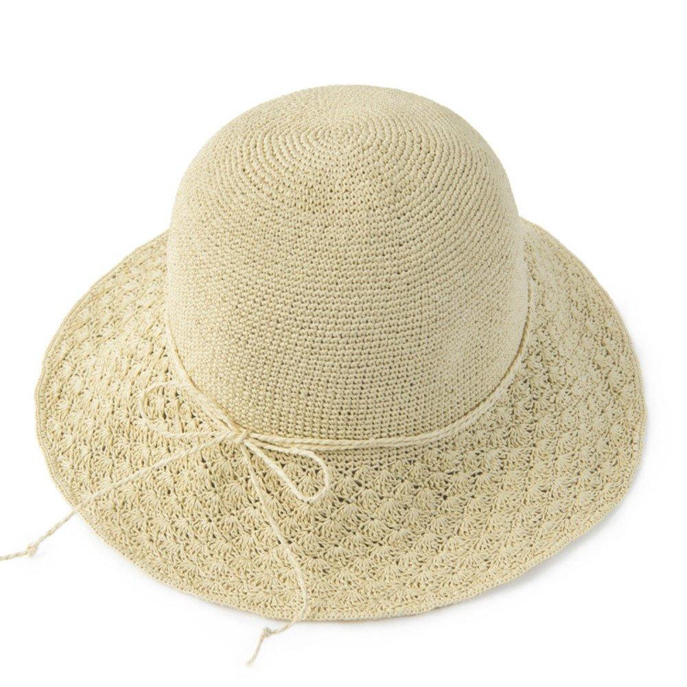 Summer Beach hat,Big straw hat Sun shade hat Outdoor Folding Sun hat-B M