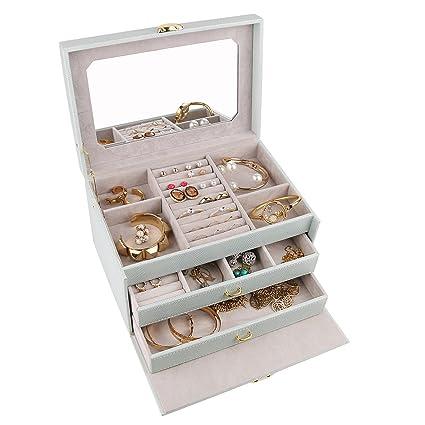 Amazoncom A Comely Medium Jewelry Box Accessories Jewelry Storage