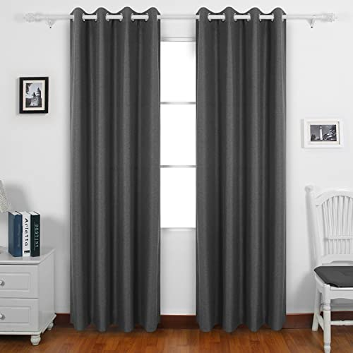 Deconovo Grommet Top Panels Room Thermal Insulated Drapes and Curtains