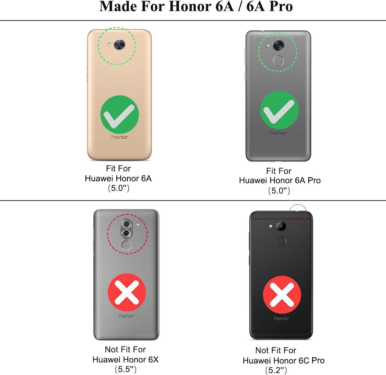 kazineer Funda Huawei Honor 6A, Carcasa Honor 6A Premium Cuero ...