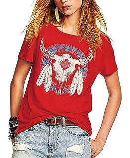 642d161b2164 Romastory Women s Street Style Printed T-Shirts Short Sleeve Loose Tops Tee  Shirt