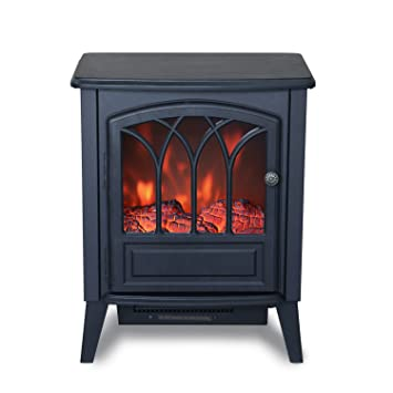 Amazon.com: Clevr Freestanding Electric Fireplace Space Heater ...