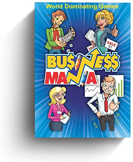 Amazon Com Business Mania Game Card Game About Building Businesses And Crushing Competition Board Game For Entrepreneurs Friends And Family Toys Games