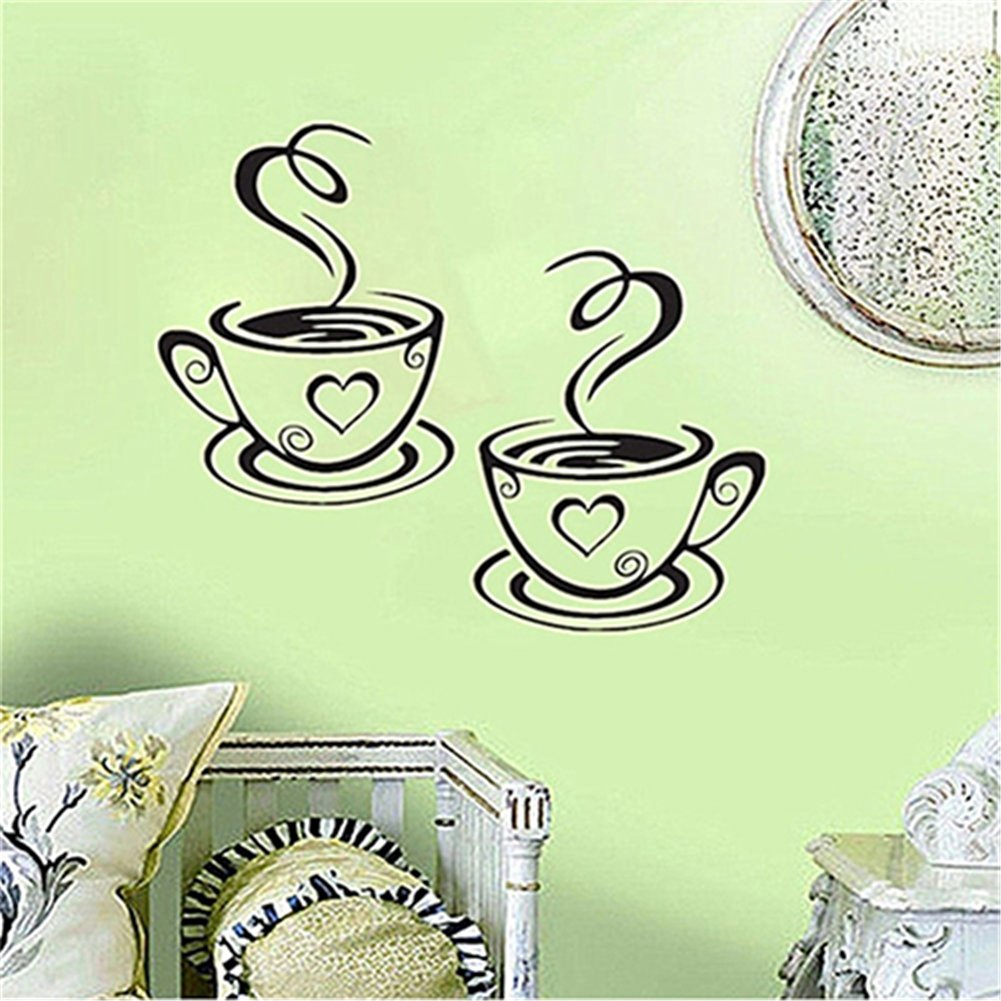 dds5391 Home Kitchen Restaurant Cafe Tea Wall Sticker Coffee Cups Sticker Wall Decor by dds5391 (Image #6)