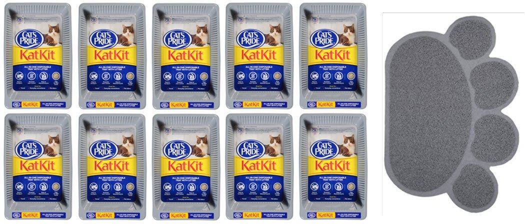 Cat's Pride KatKit Disposable Trays, Includes Litter (10-Pack Bonus) by Cat's Pride