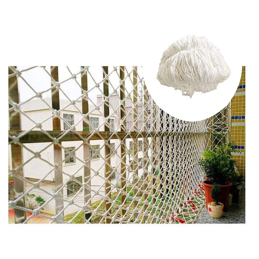 25M(716ft) ZGQSW Filet De Nylon Blanc, Filet De Prougeection for Plantes Décoration De Jardin Filet Escalier Filet De Sécurité Balcon Anti-Chute Filet Filet De Prougeection for Enfants for Enfants Clôture Extérieur