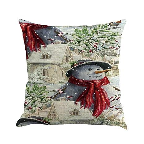 Vovotrade Navidad decorativo fundas de almohada de hacer un ...