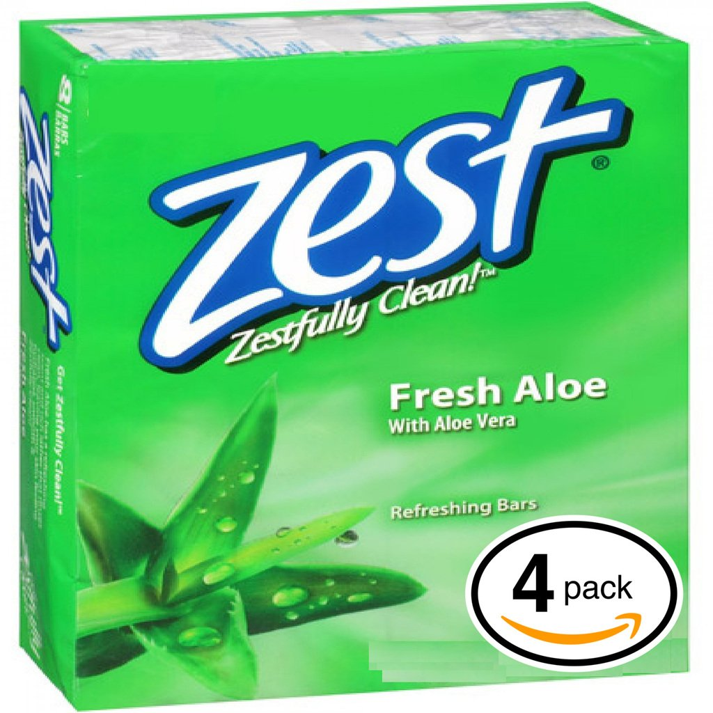 Amazon.com : Zest Bar Soap Aqua 4oz Bar Soaps - 20 Bars : Bath ...