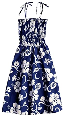 ec7ee232fad RJC Women s Classic Hibiscus Hawaiian Smocked Sundress Royal Blue at ...