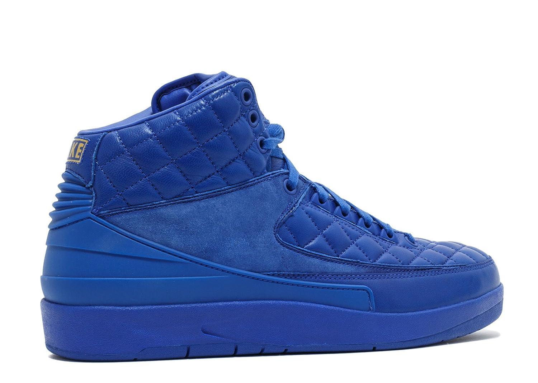 5c3f92ed360 Amazon.com | Nike Mens Jordan 2 Retro Don C Bright Blue/Metallic  Gold-University Red Leather Basketball Shoes | Basketball
