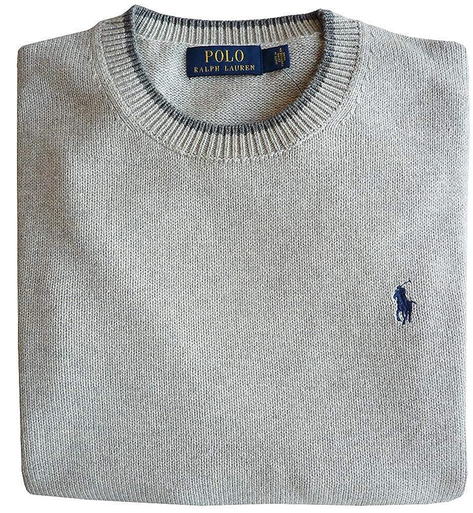 Polo Ralph Lauren Jersey, M, Flequillo Logo, Gris Htr: Amazon.es ...