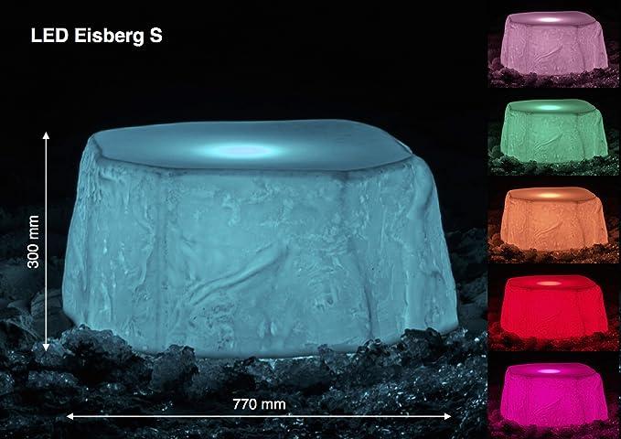 Led iceberg s creativo oggetto illuminazione per casa giardino