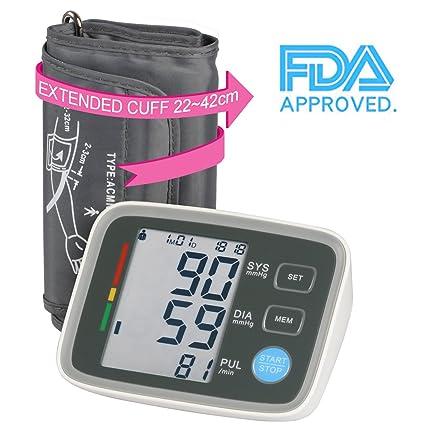 JD Monitor de presión Arterial Totalmente automático Digital Superior Brazo Monitor de presión Arterial con indicador