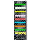 Godery Hanging File Folder Holder Organizer, Cascading Fabric Organizer, Door & Wall Filing Organizer, Perfect to Home School Office Classroom Use … (Black)