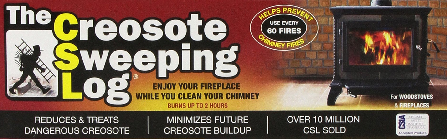 Creosote Sweeping Log for Fireplaces by CSL