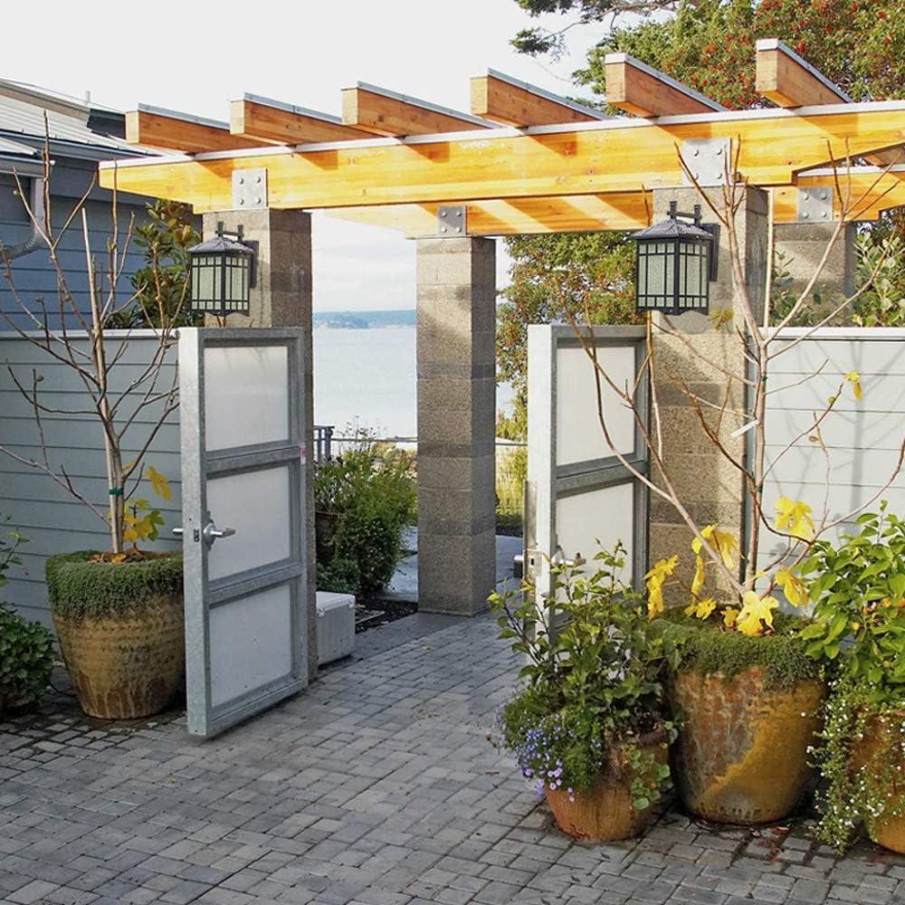 IBalody Led Solar de Tres Colores atenuación a Prueba de Agua Luces de Pared al Aire Libre Europeo Retro Industrial de Aluminio de Vidrio lámparas de Pared Puerta de jardín Decorativo Pared