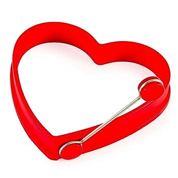Silikonform für Spiegeleier im Herz- Design, Kochen mit Liebe ...