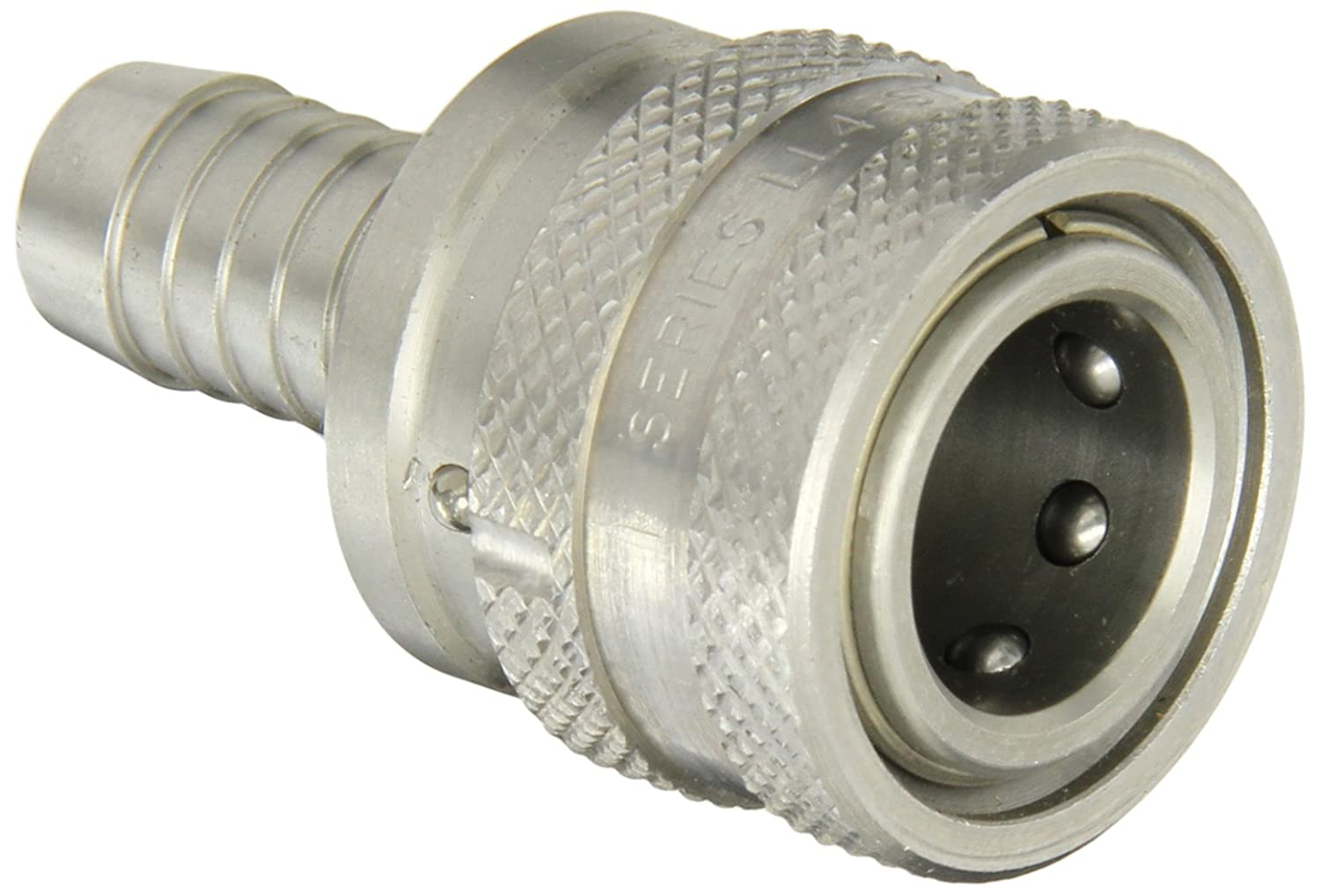 1//2 Body 1//2 Hose ID 1//2 Body 1//2 Hose ID Sleeve Lock Socket Eaton Hansen LL4S27SL Stainless Steel 303 Straight Through Ball Lock Hydraulic Fitting