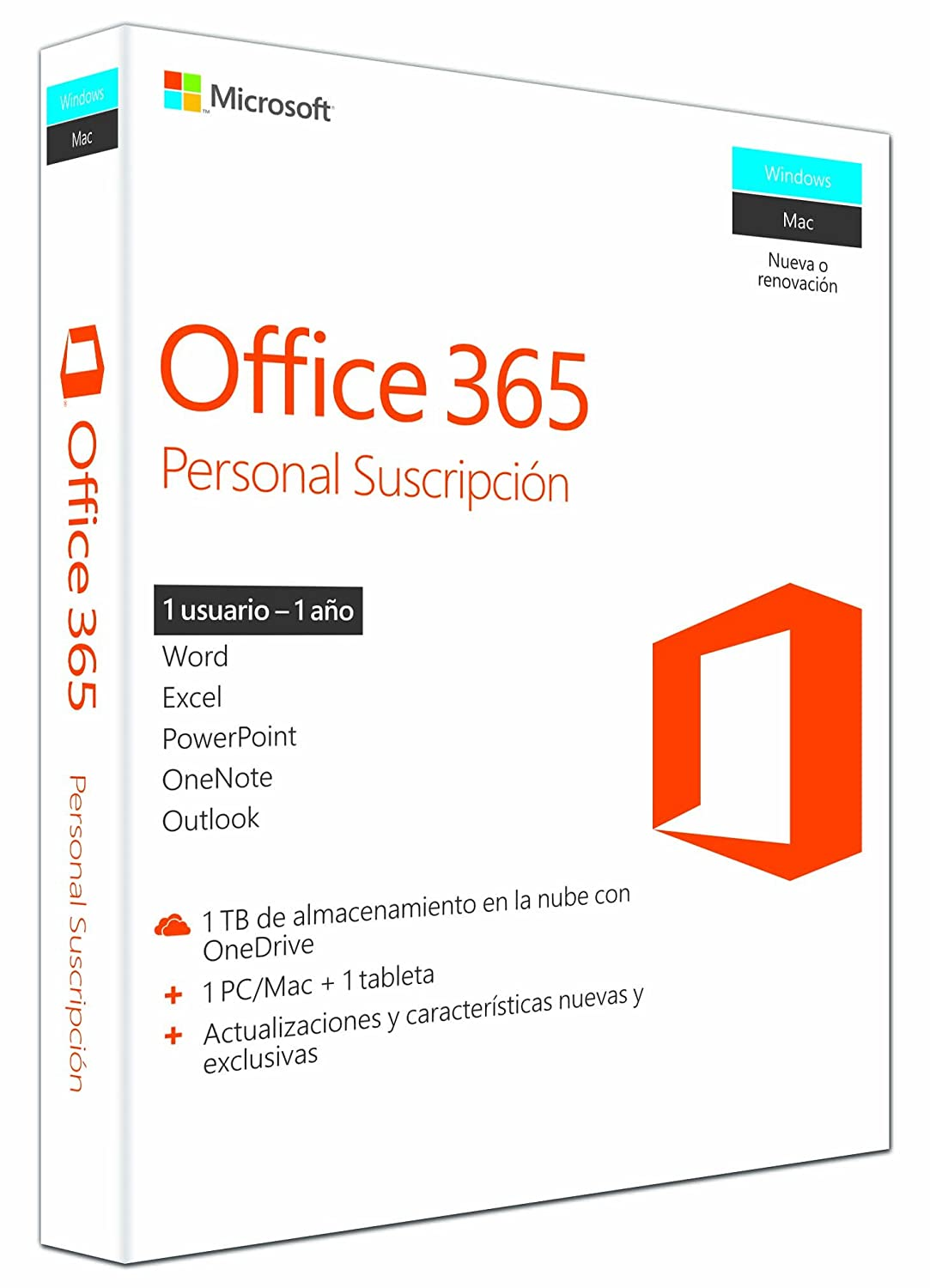 Microsoft Office 365 Personal para Windows y Mac - 1 Usuario Pc/Mac ...