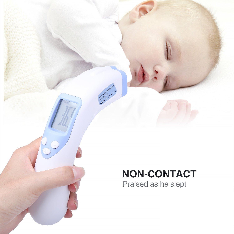 term/ómetro digital infrarrojo sin contacto con pantalla LCD medici/ón precisa del cuerpo del beb/é la leche y la temperatura del agua Term/ómetro para frente de beb/é