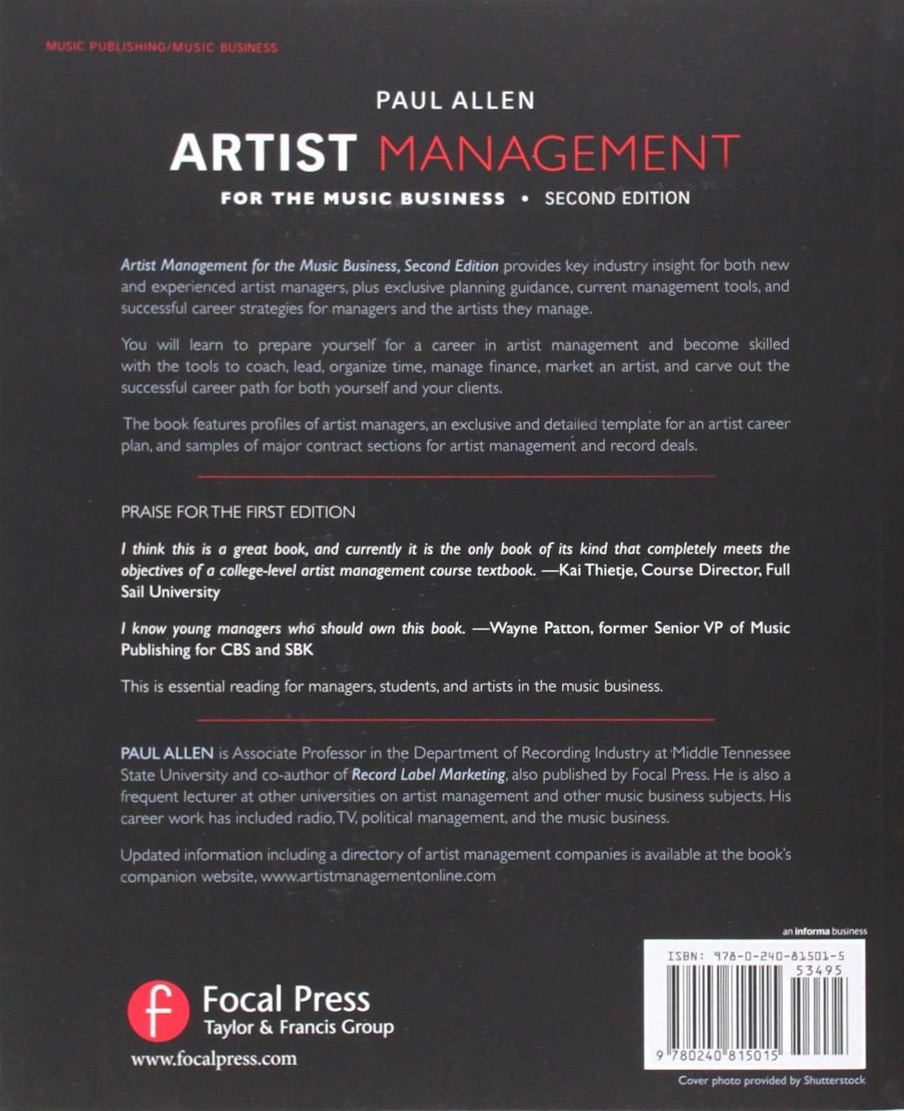 Artist management for the music business by paul allen · overdrive.
