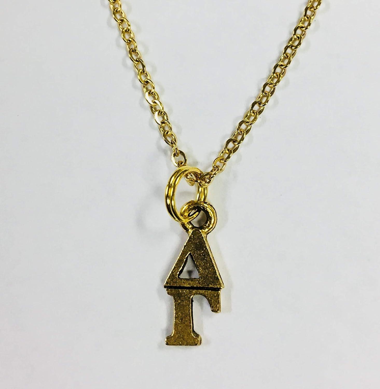 NEW!*** Delta Gamma Sorority Classic sterling silver lavaliere pendant