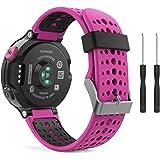 MoKo Garmin Forerunner 235 Smartwatch bracelet, Watch Band flexible en silicone avec des outils pour Forerunner 235/220/230/620/630/735 Montre de Running GPS avec Cardio au Poignet, Rouge Rose