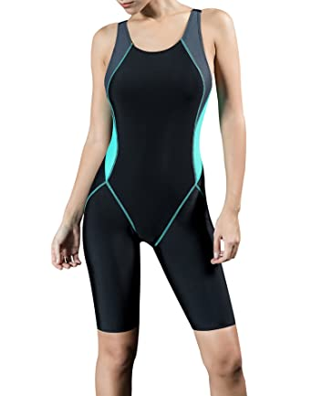 90e3af1c3aa9d Uhnice Women Unitard Swimwear Surfing Suit Sports One Piece with Shorts  Swimsuit (Medium(US6