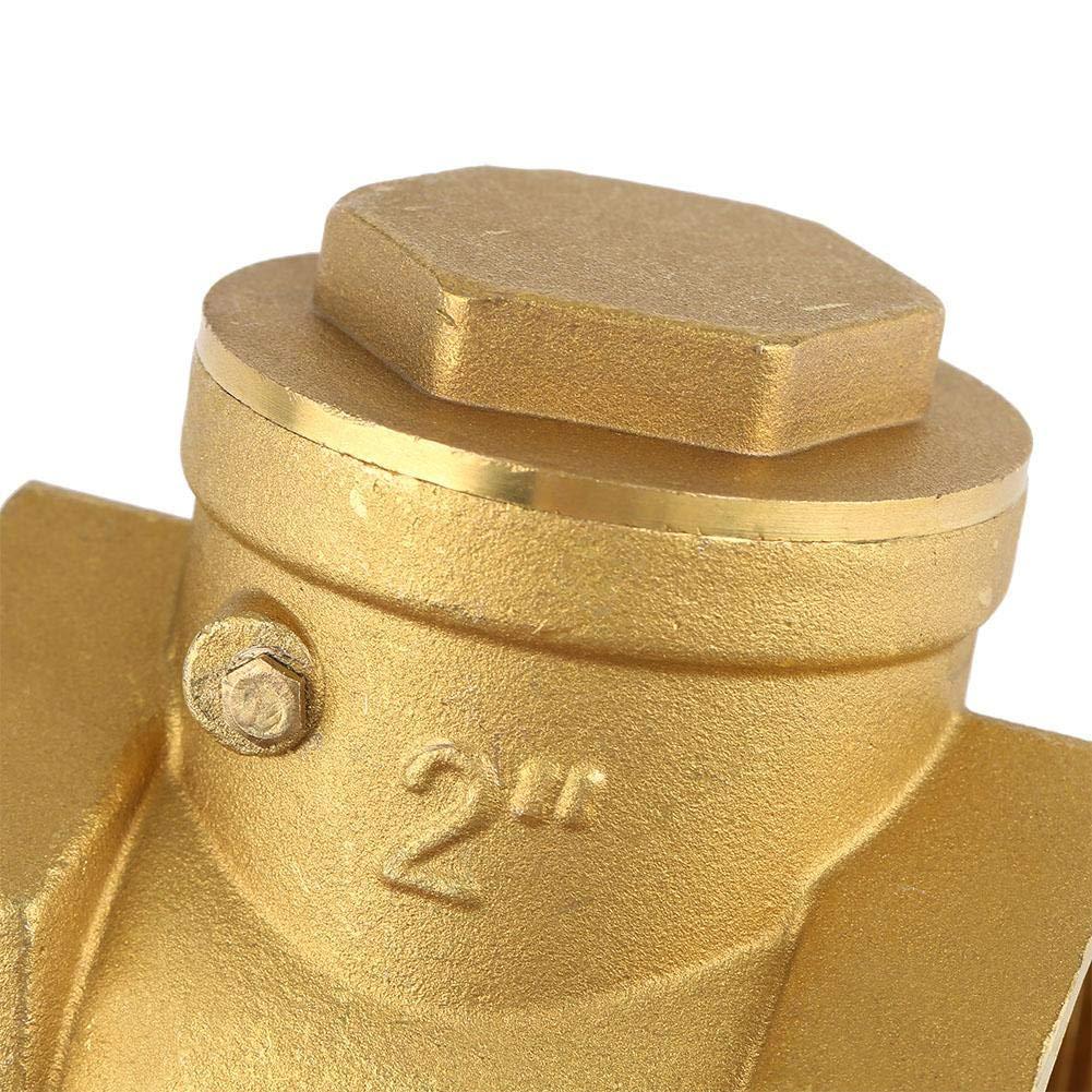 Valvola di ritegno DN50 Filettatura femmina Ottone Valvola di non ritorno a battente 232PSI Prevenire il riflusso dellacqua pressione 232PSI