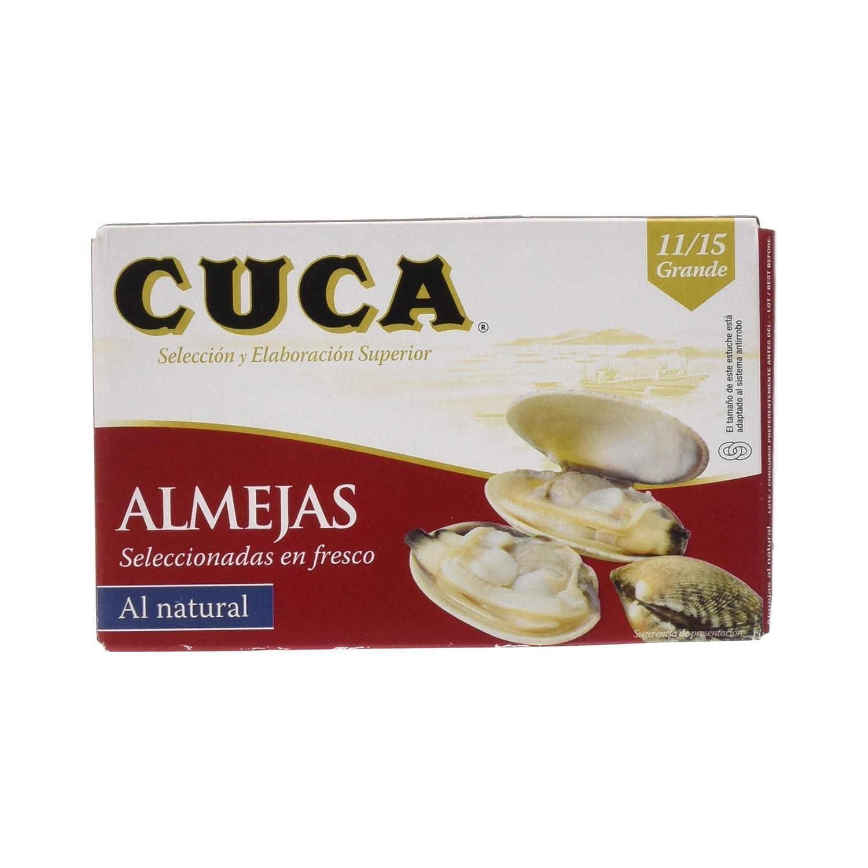 Cuca Almejas Seleccionadas en Fresco al Natural, 11/15 unidades - 125 g: Amazon.es: Amazon Pantry