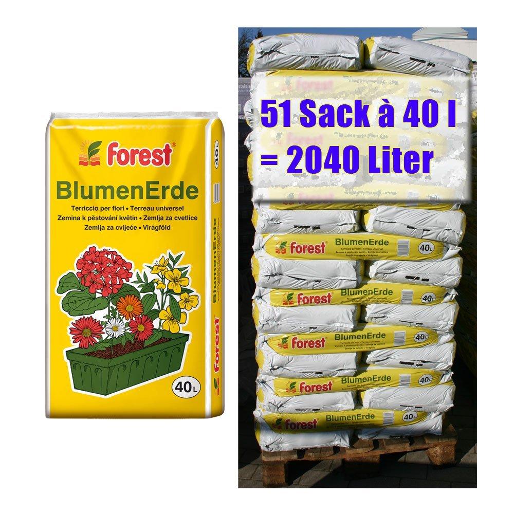 Blumenerde FOREST 51 Sack mit je 40 Liter = 2040 Liter Qualitäts ...