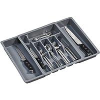 Kesper 30086 Besteckkasten ausziehbar, Kunststoff, Maße: 29 -50 cm x 38 x 6.5 cm