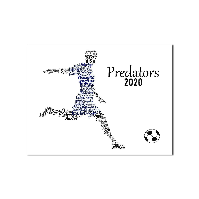 Soccer Room Decor Typography Soccer Gift for Boys Girls SOCCER BALL Art Print Gift for Coach Soccer Gifts Custom Name Art