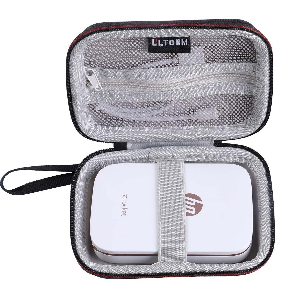 LTGEM EVA Custodia rigida Tasca da viaggio Case per HP Sprocket Stampante Fotografica Portatile CS090