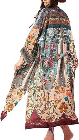 TALLA Talla única. L-Peach Kaftan Vestido Largo de Playa para Mujer