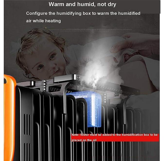 DMMASH Calentador De Radiador Lleno De Aceite De 2200W con ...